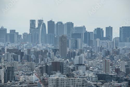 Keuken foto achterwand New York skyscrapers in Tokyo
