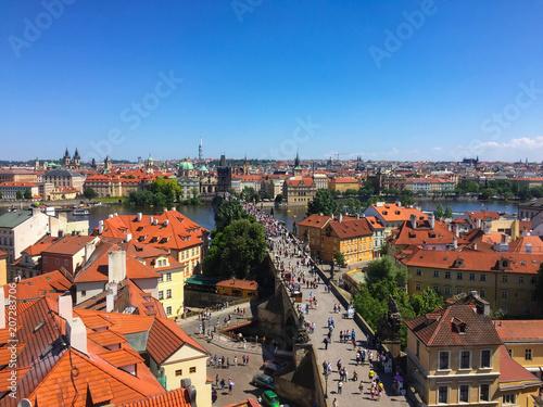 Staande foto Praag Praga Repubblica Ceca città panorama