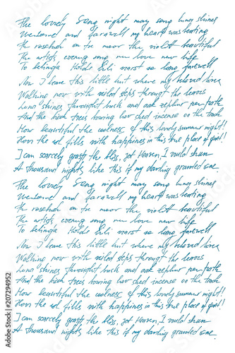 Fotografía  Undefined text english Handwritten letter Handwriting Calligraphy
