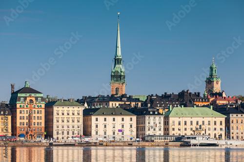 Staande foto Stockholm Cityscape of Gamla Stan, Stockholm, toned