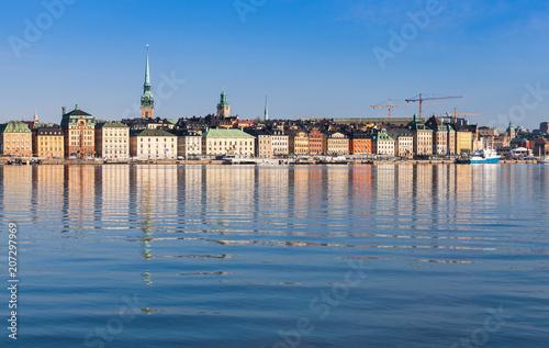 Papiers peints Scandinavie Cityscape of Stockholm. Gamla Stan