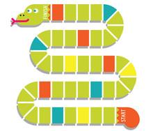 Snake Shaped Game Board. Vector Illustration