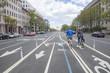 Bicycle lanes on Pennsylvania Ave in Washington, DC