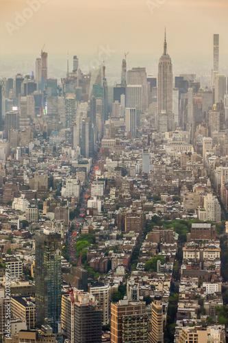 Fotobehang New York City Manhattan New York with Empire State Building