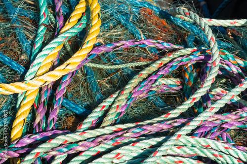 Fotografie, Obraz  Tangle of ropes