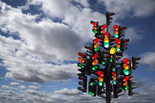 Traffic Light In The Form Of A...