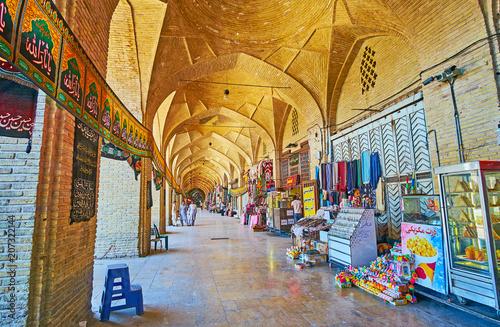 Poster Moyen-Orient Bazaar arcade at Ganjali Khan Square, Kerman, Iran
