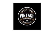 Elegant Vintage Retro Badge Label Emblem Logo Design Inspiration