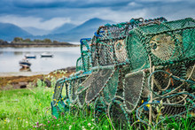 Old Cage For Lobster On Shore, Scotland