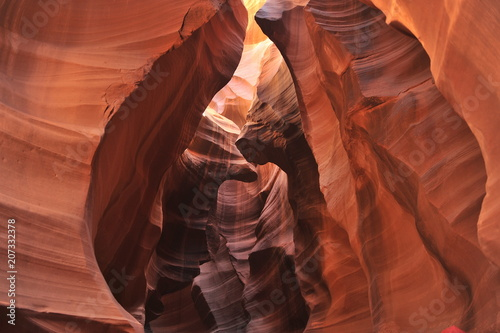 Deurstickers Canyon USA. Antelope Canyon in the north of Arizona