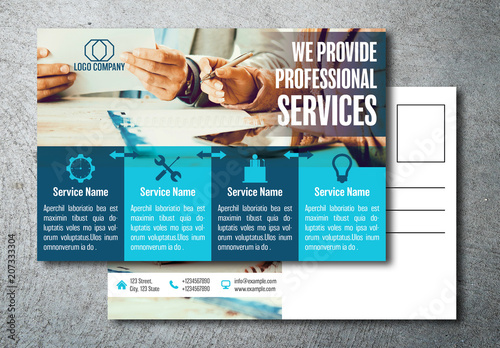 Blue blocks business postcard layout buy this stock template and blue blocks business postcard layout cheaphphosting Image collections