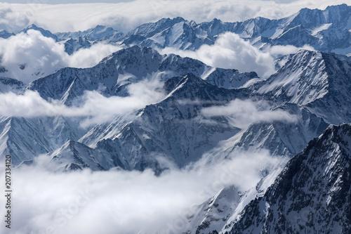 Photo Stands Landscapes winter mountain peaks landscape