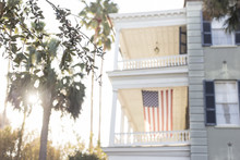 American Flag Hanging From Sou...