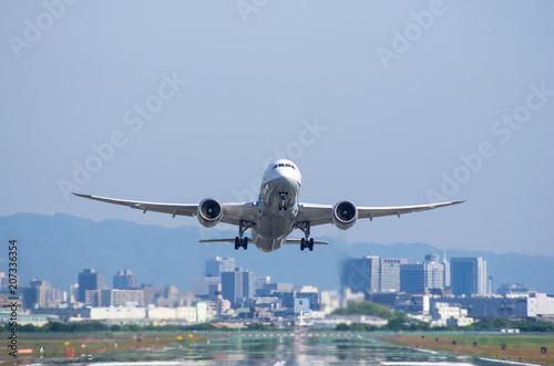 Fotografie, Obraz  離陸するジェット旅客機