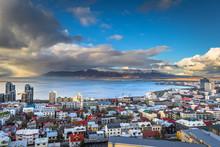Reykjavik - May 01, 2018: Panoramic View Of Reykjavik From The Hallgrimskirkja Church, Iceland