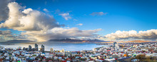 Reykjavik - May 01, 2018: Panoramic View Of Reykjavik From The Hallgrimskirkja Church, Iceland