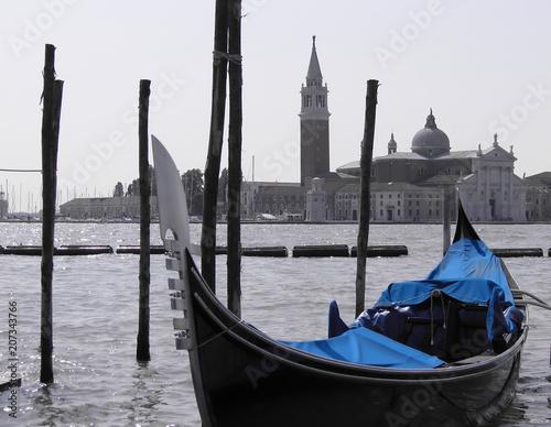 Foto op Plexiglas Gondolas Venetian gondolas - Venice - Italy