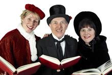 Three Christmas Carollers