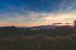 Sunset at Wellington New Zealand landscape