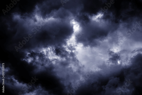 Canvas Prints Heaven Light in the Dark and Dramatic Storm Clouds