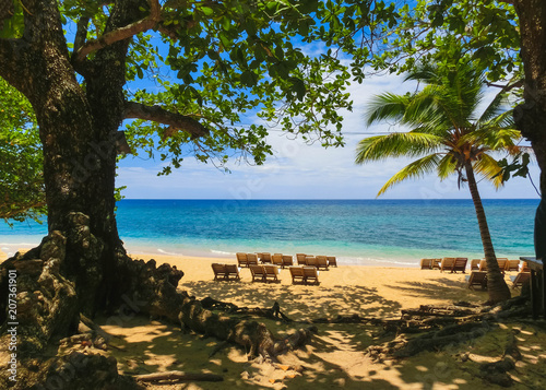 Garden Poster South America Country The sea and sand at Bamboo Beach in Jamaica