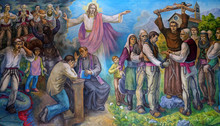 The Altarpiece Shows The Faith Of The Albanian People In Jesus Christ In Mother Teresa Cathedral In Vau I Dejes, Albania.