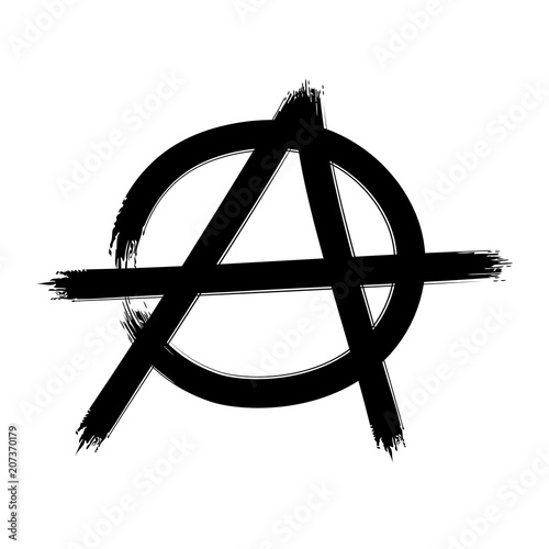 Photo Anarchy symbol. Vector sign