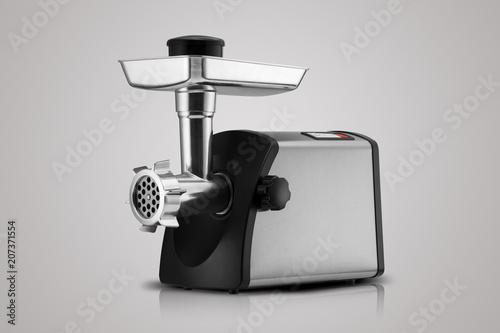household electric meat grinder on light grey background Fototapet
