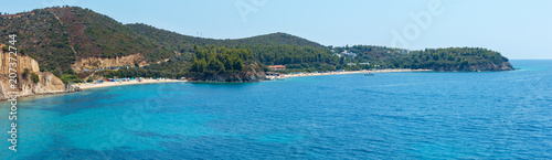 Photo Aegean coast panorama, Sithonia, Greece.