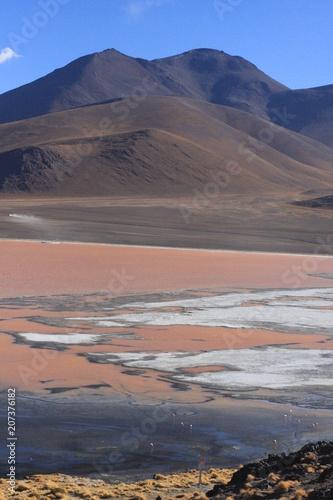 Tuinposter Zalm Salar de Uyuni in Bolivia