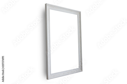 Mirror isolated on white background .