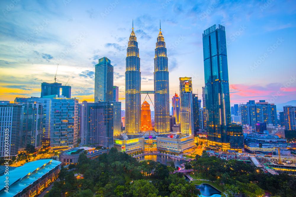 Fototapeta マレーシア クアラルンプールの街並み