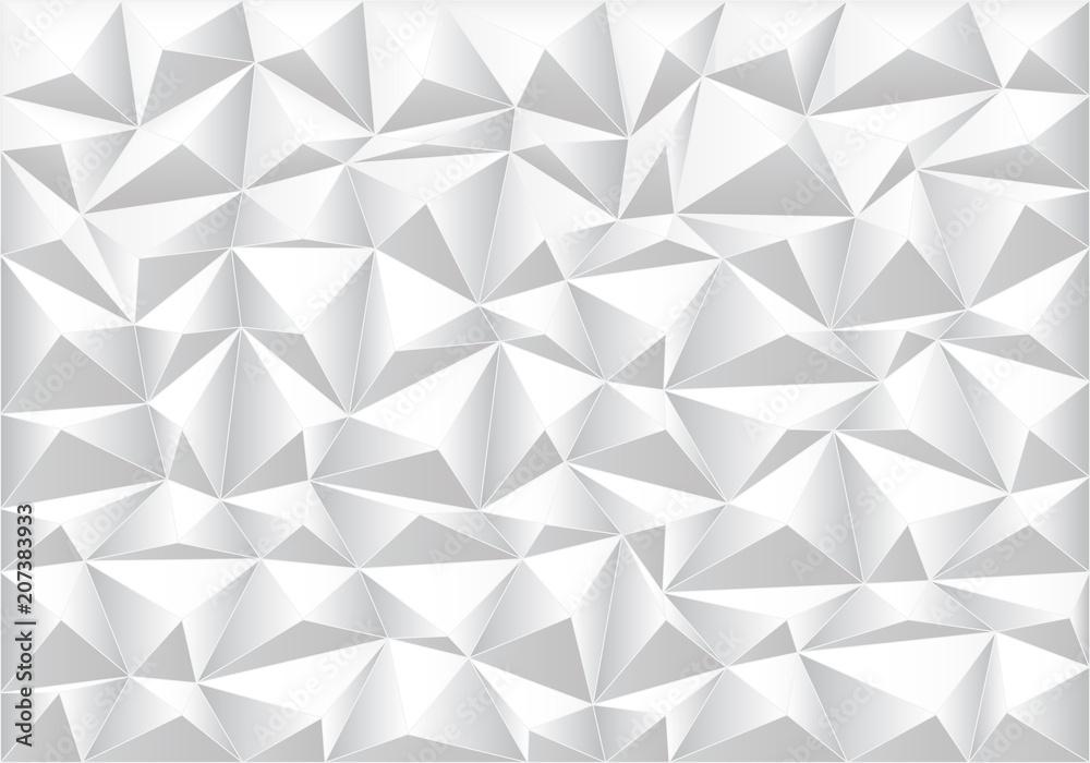 Fototapeta Abstract soft gray polygon pattern background texture vector illustration.