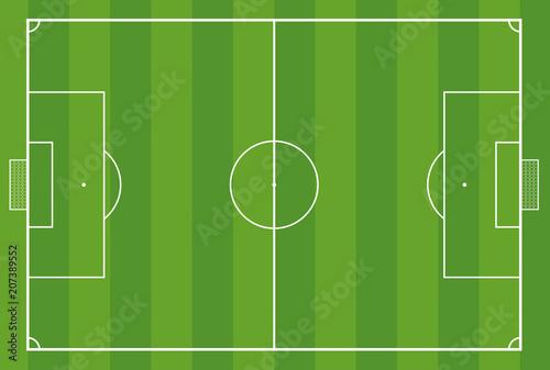 Obraz Fußballfeld Fußballplatz Rasen - fototapety do salonu