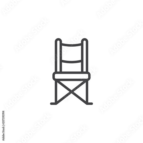 Admirable Camping Chair Outline Icon Linear Style Sign For Mobile Ncnpc Chair Design For Home Ncnpcorg