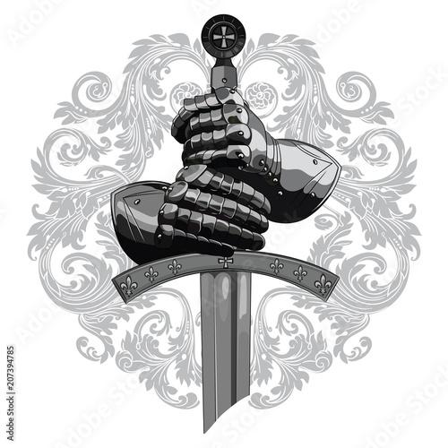 Carta da parati Knight design