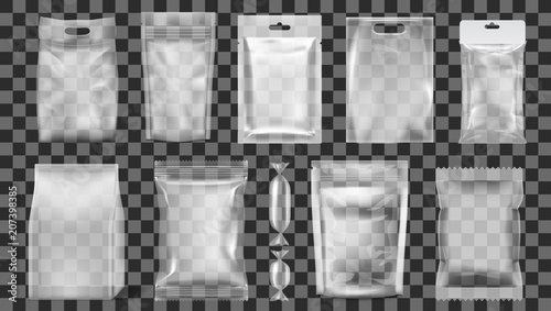 Obraz Big Set Of Transparent Empty Plastic Packaging - fototapety do salonu