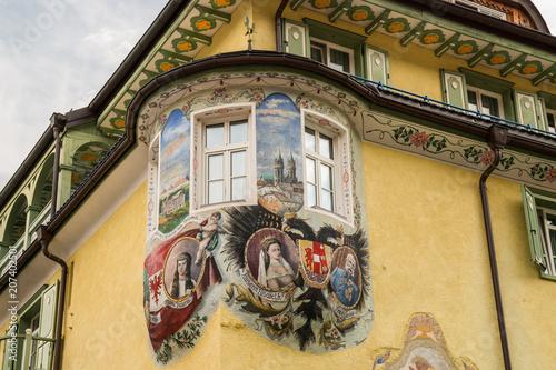 Scorci di Canazei, Val di Fassa, Trentino Alto Adige, Italia Wallpaper Mural