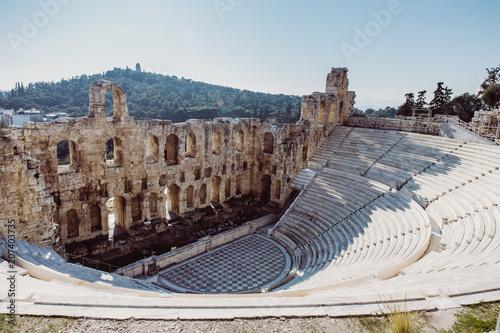 Zdjęcie XXL Stary plenerowy teatr w Ateny, Grecja