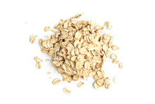 Rolled Oats Isolated On White Background.