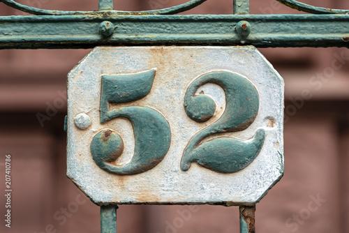 Cuadros en Lienzo Hausnummer 52