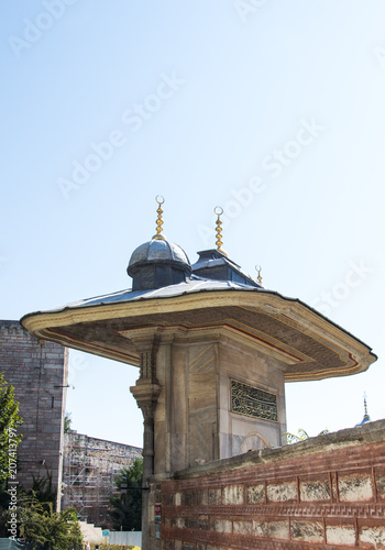 In de dag Oude gebouw Outer view of dome in Ottoman architecture
