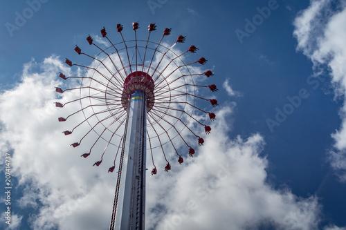 Foto op Aluminium Amusementspark Flying Saucer in an Amusement Park