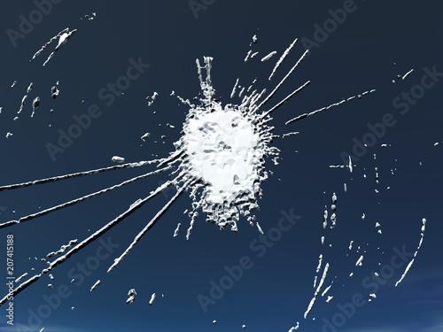 Valokuva  Glasschaden durch Steinschlag