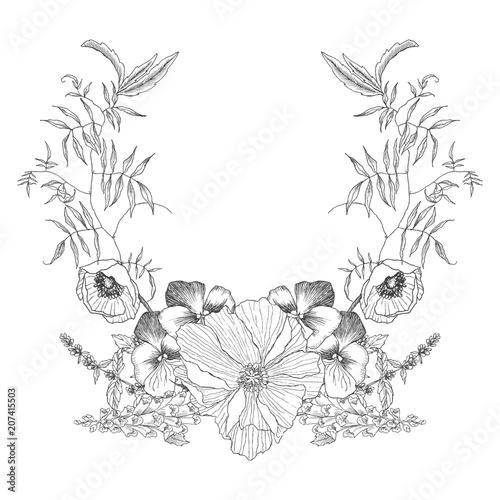 Vintage frame border design Elegant Vintage Frame Border Monogram Floral Ornament Engraved Retro Flower Decorative Design Beautiful Botanical Decorative Element For Wedding Invitation Logo Adobe Stock Vintage Frame Border Monogram Floral Ornament Engraved Retro Flower