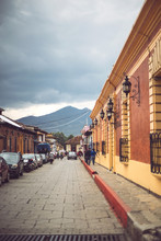 Narrow Street Of Mexican Town