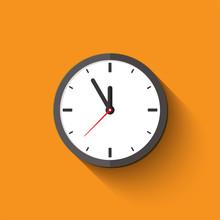 Clock Flat Style