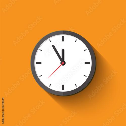 Fotografija clock flat style
