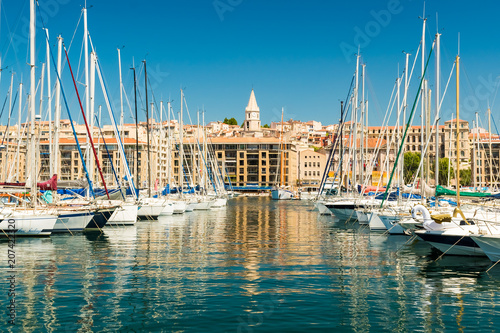 Canvas Prints Ship The Old Port with yachts, Marseille, Provence, France