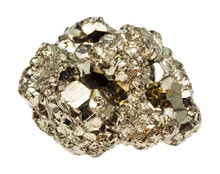 Raw Iron Pyrite Stone Isolated